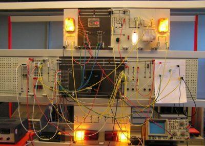 Versuchsaufbauten zu Alarm-und Sicherungssystemen