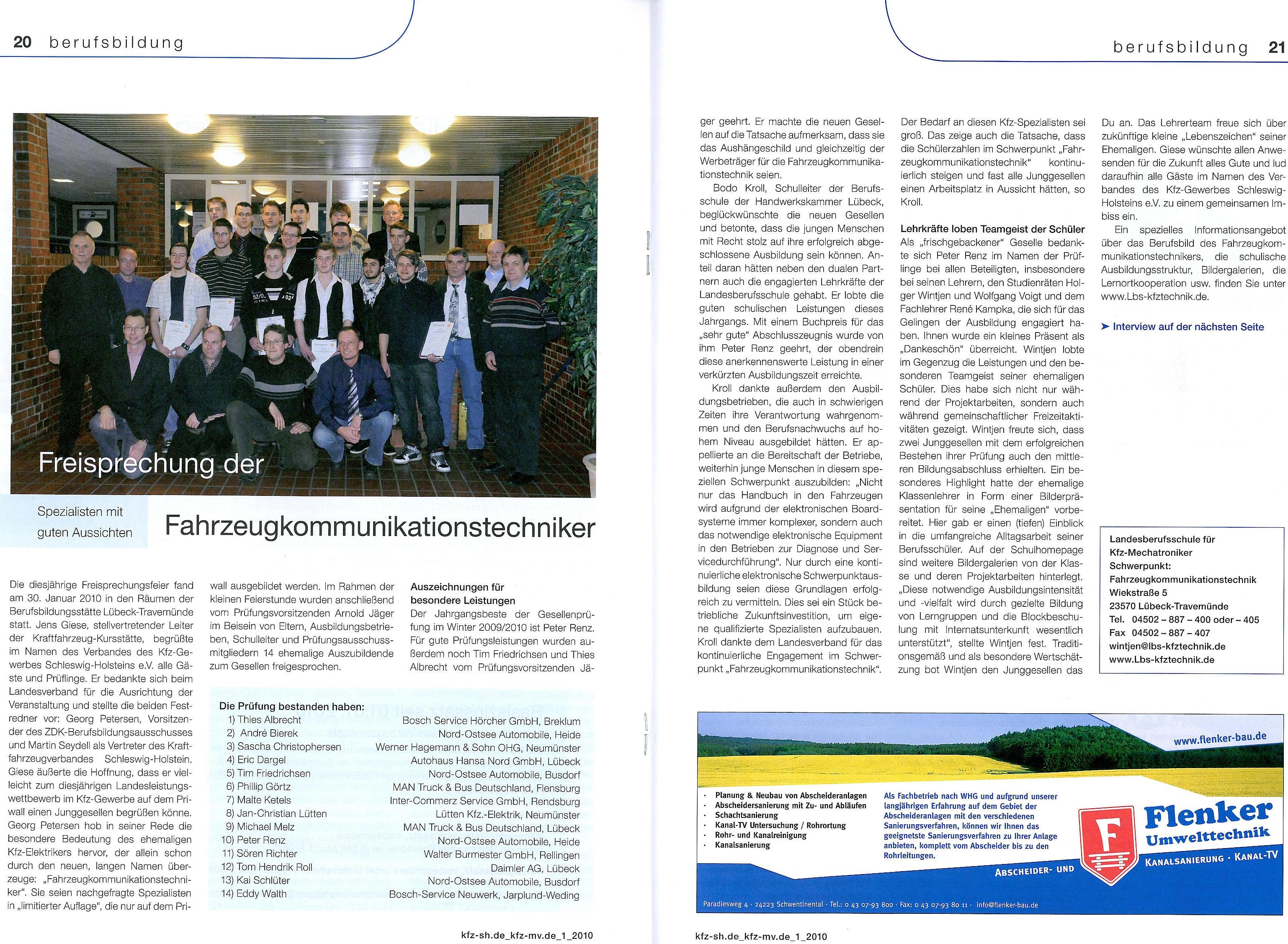 2010Artikel zur Freisprechung der Km06 aus der Verbandszeitschrift