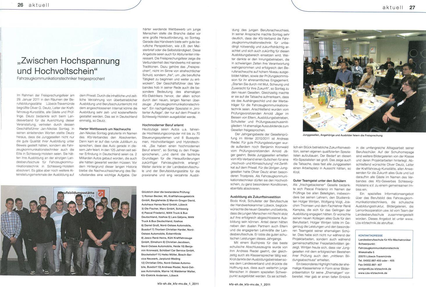 Artikel zur Freisprechung 2011
