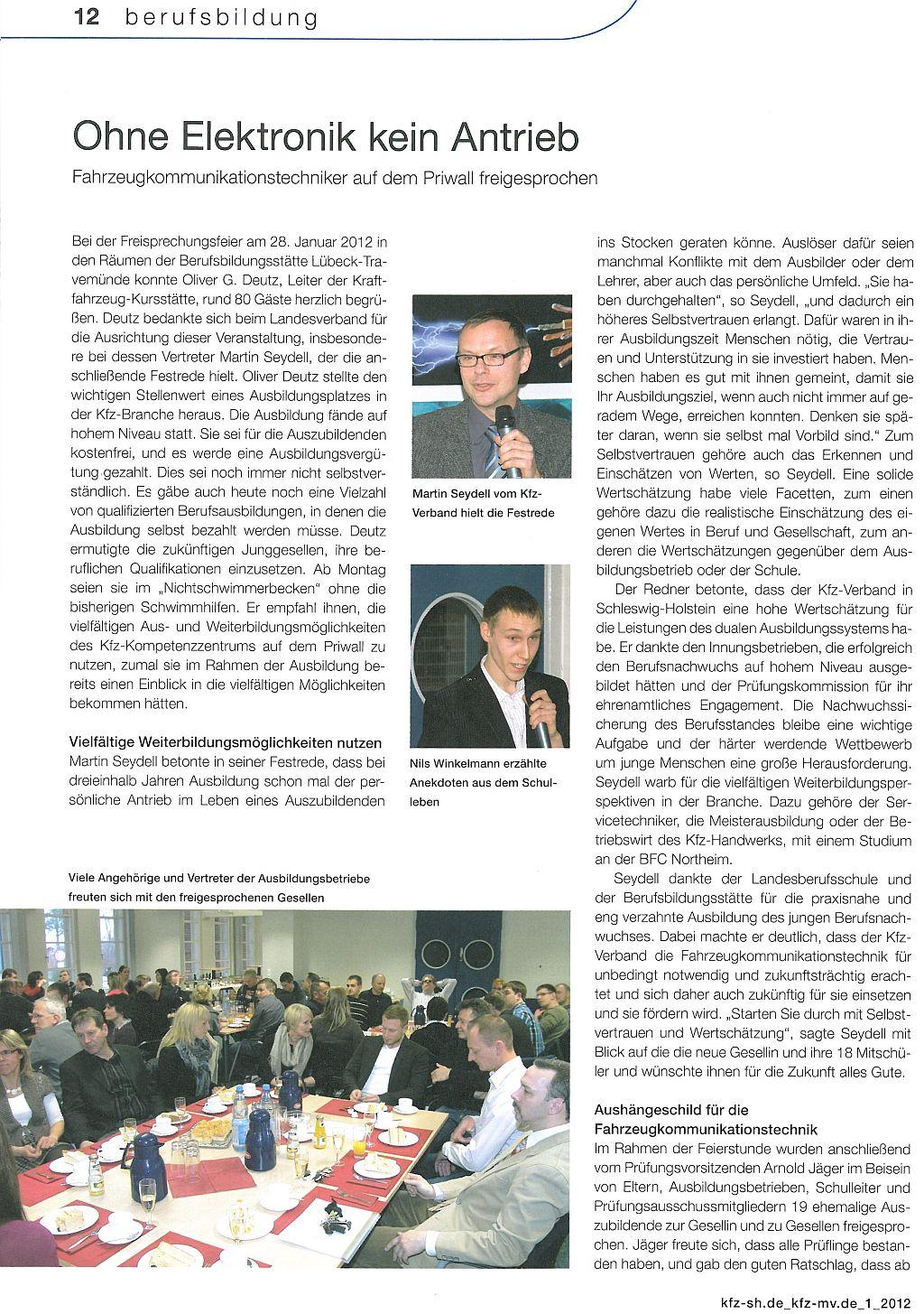 Artikel zur Freisprechung 2012